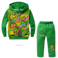 Retail+Free shipping New 2014 Autumn Children boys girls Cartoon Cothing set,Teenage Mutant Ninja Turtles clothing,100% cotton,