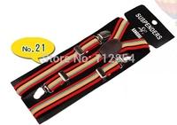 Free Shipping+Wholesale Kid's Adjustable Clip striped suspenders braces,200pcs/lot