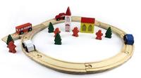 Wooden Thomas train toy round wooden rail preschool children toy train Classic Wooden Train Toy for Children