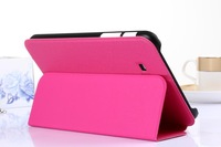 "Wholesale 10pcs/lot The 2104 New products for Samsung tablet pc T230 T110 T210 P3200 Case ,7"" case"