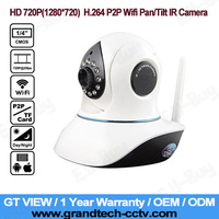 GT VIEW P2P Plug and Play 1280x720P 1.0 MegaPixel HD Wireless IP Camera with Pan/Tilt SD Card Slot and IR Cut Vstarcam T7838WIP