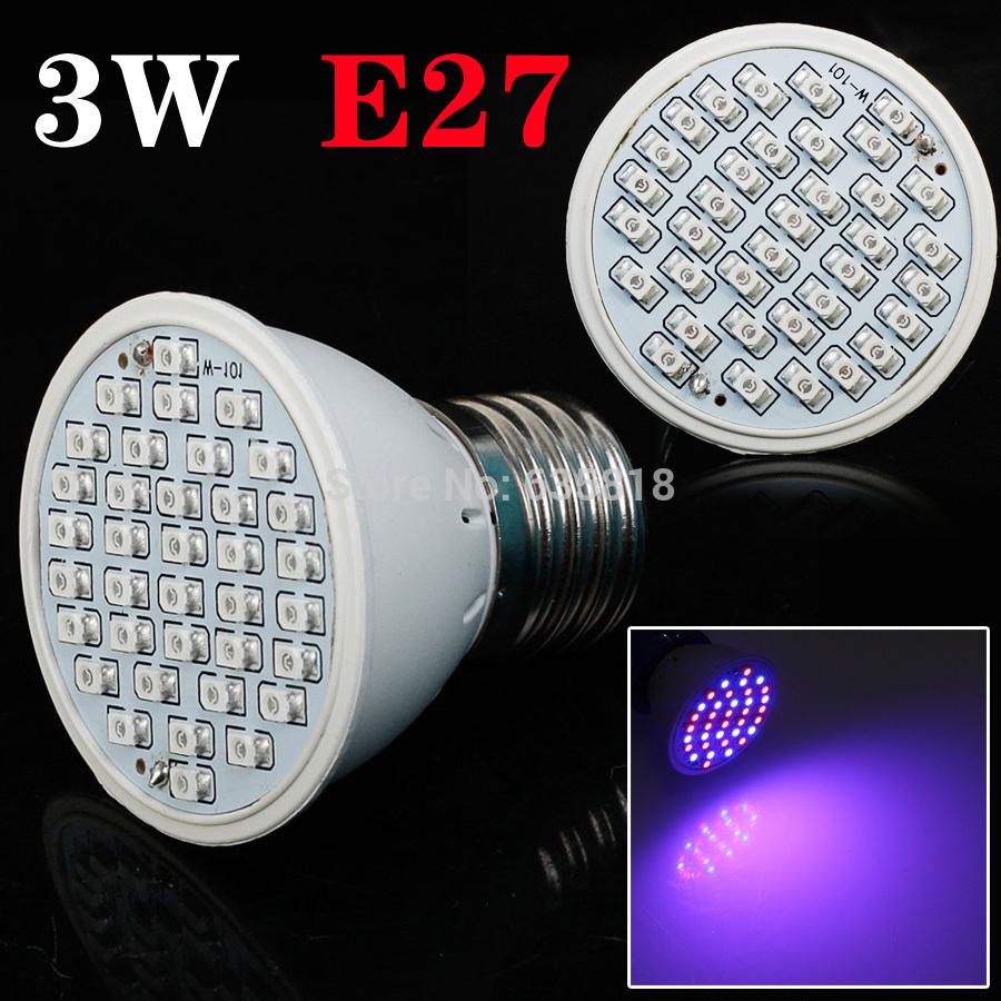 CHEAPEST 85-265v 3W E27 plant growing light RED 20 BLUE 16 Hydroponic LED Plant Grow led bulb(China (Mainland))