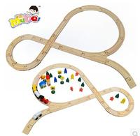 Thomas rail train toys children's toys train track wooden toys assembling building blocks set  wooden railway