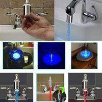 Water Glow LED Faucet Light Temperature Sensor Detector Adapter Home Decor