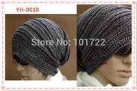 Winter street dance fashion cap . Earmuffs hats for men knitted hat .