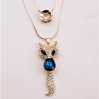 Artilady 2014 fashion 2 layer around design necklace pendant