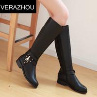2014 New Bare boots Martin Metal High heels Platform fall Winter fashion Black Women Rubber High boots for women Fashion shoes