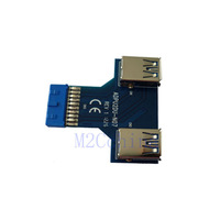 19pin to Dual USB3.0 Adapter card, Vertical type