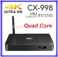 CX-998 CX998 4K Android 4.4 TV Box RK3288 Quad Core Smart TV Box 2GB 16GB Mali-T764 GPU Built-in Bluetooth XBMC Media TV Player