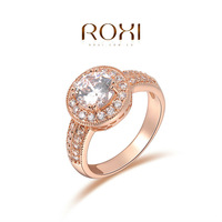 ROXI Exquisite wedding Rings platinum and Rhodium plated with AAA zircon,free shipping ,Micro-Inserted Jewelry101009438,