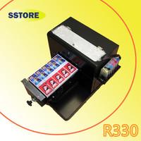 R330 A4 flatbed printer  No coating pvc card printer phone case printing machine printer a4eco solvent printer