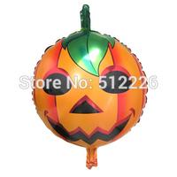 Halloween Pumpkin Decorate Balloon, Pumpkin Mylar Balloon, 10pcs/lot, Halloween Party Supplies