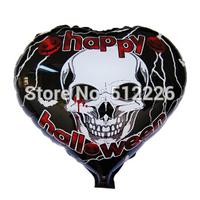 Halloween Ghost Decorate Balloon, Halloween Skeleton Mylar Balloon, 10pcs/lot, Halloween Party Supplies