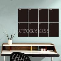 Free Shipping Removable Weekly Planner Chalkboard Blackboard Wall Sticker Stickers Art Vinyl Decal [4 4007-290]