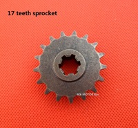 Factory direct wholesale mini cross transmission gearbox sprocket 17 teeth for T8F chain/Free shipping