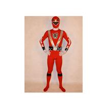 Red Power Rangers Unisex Lycra Spandex Zentai Suit Costume Super Hero Costume Halloween Costume