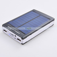 Portable Solor Charger 30000mah Power Bank Dual USB External Charger with LED Light for Mobile Phone Tablet PC