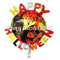 Halloween Balloon, Happy Hallween Party Balloon, Switch & Goblin Party Balloon, 50pcs/lot, Helium Mylar Balloon