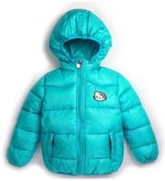 2014 new Hello Kitty girl's winter jacket & warm hooded jacket.100% cotton jackets and coats. Hot retail cartoon coat.