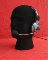 STYROFOAM FOAM black velvet MANNEQUIN MANIKIN head display wig hat glasses