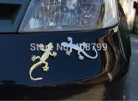 Fashion Metal Car Sticker Decorative Cool 3D Emblem Lizard Sticker Gecko 3D Car Stickers Free Shipping by DHL/Fedex 300pcs