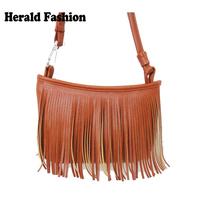 High Quality Leather Tassel Fringe Fashion Casual Messenger Bag For Women Female Femininas Small All-match Bolsas Satchel New