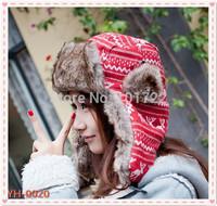 New syle korean version lovely deer knitted cap lei feng hat . Winter earmuffs warm hat .