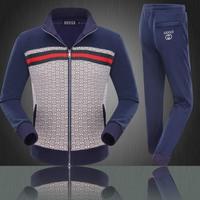2014 New Arrive Free Shipping Men Print Hoodies Set Men Hoodies+Pants Coat+Pants Men Casual Sweater Suits Royalblue 6802