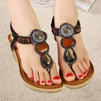 2014 New Summer shoes Women Sandals Gemstone Wedge heel Sandals