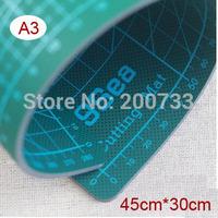 Free shipping A3 45cm*30cm PVC Cutting mat durable self-healing cutting pad double sided cutting mat