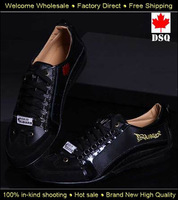 2014 New Free Shipping Autumn Winter Dsq Men's Sneakers Black Shoes For Men D2 Casaul Shoes British Style