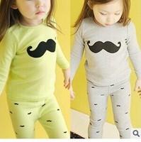 In the fall of 2014 Kids Girls suit small beard Home Furnishing cotton underwear setGW403