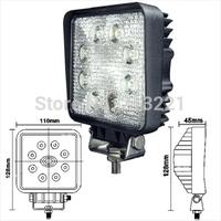 12v 24v 4 inch 24W CREE Led Worklight Offroad Spot Flood Reverse light 4x4 Truck ATV Crane Forklift Van Bus Headlights Fog lamp