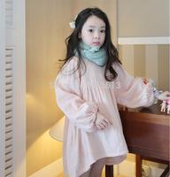 2014 new autumn korean children clothings,cotton soft pink girl long sleeve dress,kids clothes my girl my boy
