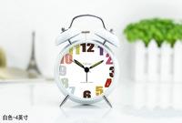 4 INCH European retro cute fashion metal mute sound great dual alarm clock