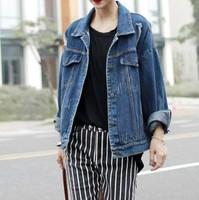2014 fall fashion for women Clothes Vintage Denim Jacket Riped Blazer casacos femininos Jeans Casual Coat Loose bomber jackets