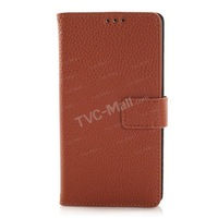 For Sony M55W Case ,Lychee Skin Leather Cover Flip Wallet Case for Sony Xperia Z3 Compact D5803 M55w