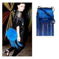 Famous Brand Tassel Bag For Women Fashion Dull Polish Leather Fringe Shoulder Bag Bamboo Joint Messenger Bag Small Desigual Bag