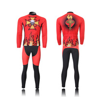 2013 New Red Cycling jersey bicycle bike wear long and cycling bib long sleeve jersey set Size :S ~XXXL