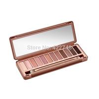Wholesale 2014 NEW Nake 3 Makeup Eyeshadow Palette Gift. 12 collors NK 3 Eye Shadow Brush Make UP Set