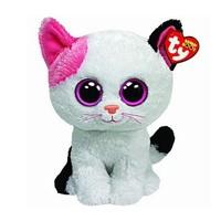 Free Shipping New Orignal TY Beanie Boo Big Eyed Animals Kids Plush Toys Muffin Cat Stuffed Dolls For Children 16CM