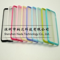 """Jelly Color Soft Clear Cell Phone Case For Apple iPhone 6 6G 4.7 inch 4.7"""" TPU + PC 2 in 1 Ultra Thin Candy Cases 1pcs/lot"""