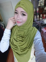 a756 Solid Color The Design Of Fold Two Pieces Muslim Islamic Hijab