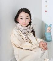 2014 new autumn korean children clothings,princess kids girl V-neck loose dress,new design clothes for 2-10yrs children girl