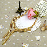 2014 Newest  Fashion Brand Charming Chain Beautiful Golden Pendants&Showy Alloyed Necklace made for Women at Factory Price