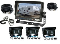 "7"" Trailer Digital Auto Shutter Rear View Camera System, Back Up Camera System Reverse Camera System"