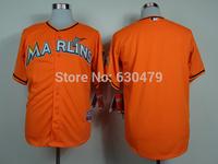 accept drop shipp. stitched cheap Miami Marlins Jerseys  blank  Baseball Jersey Jose Abreu baseball shirt