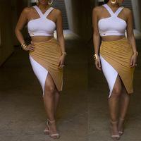 New 2014 women summer sexy strapless halter top off the shoulder bodycon dress evening dress clubwear beachwear SJ1120