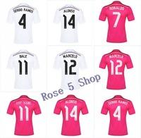 Real madrid soccer jersey top quality black away custom name real madrid jerseys JAMES KROOS RONALDO BALE shirts free shipping