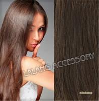 Women Hair 70g 100% Virgin Real Human Hair Clip In Extensions Hairpiece Medium Brown Free Shipping AY600874